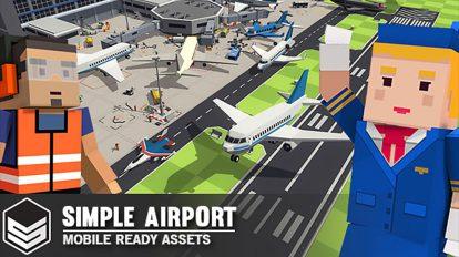 مجموعه مدل سه بعدی کارتونی فرودگاه Airport Cartoon Assets