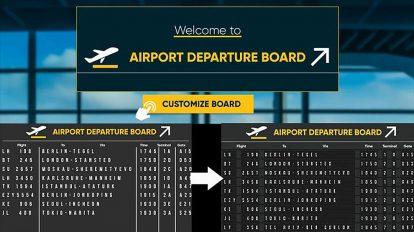 پروژه افترافکت نمایش پروازهای فرودگاه روی برد Airport Departure Board