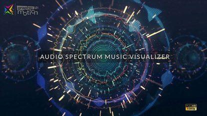 پروژه افترافکت ویژوالایزر موزیک Audio Spectrum Music Visualizer