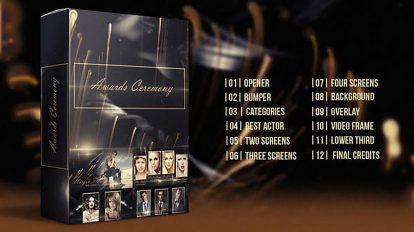 پروژه افترافکت اجزای ویدیویی مراسم جوایز Awards Ceremony