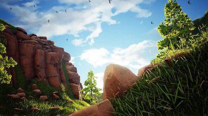 ویدیوی موشن گرافیک زمینه متحرک طبیعت زیبا