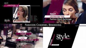 پروژه افترافکت برودکست کانال فشن Broadcast Design Fashion
