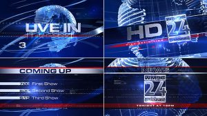 پروژه افترافکت برودکست خبری Broadcast Design News Package