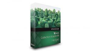 مجموعه مدل سه بعدی حصار بوته و گیاه CGAxis Models Volume 89 Hedges