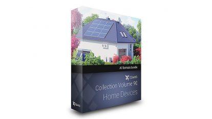 مجموعه مدل سه بعدی تجهیزات خانگی CGAxis Models Volume 90 Home