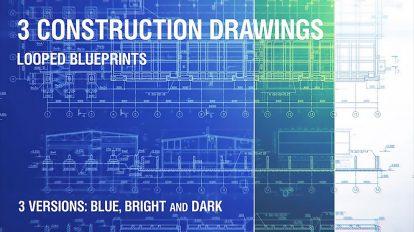 مجموعه زمینه متحرک لوپ نقشه طراحی ساختمان