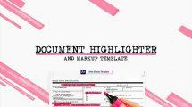 پروژه افترافکت هایلایت متن در سند Document Highlighter
