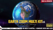 پروژه افترافکت جعبه ابزار زوم روی زمین Earth Zoom Multi Kit
