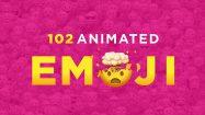 پروژه افترافکت مجموعه انیمیشن آیکون اموجی Emoji Animated