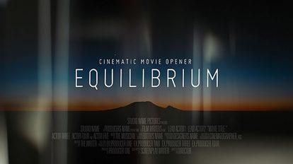 پروژه افترافکت افتتاحیه سینمایی Equilibrium Cinematic Opener