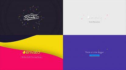 پروژه افترافکت مجموعه انیمیشن لوگو Flat Logo Animations