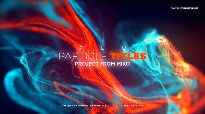 پروژه افترافکت نمایش عناوین پارتیکلی FLU Particles Titles