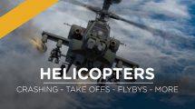 مجموعه ویدیوی موشن گرافیک پرواز و تصادم هلیکوپتر Helicopter FX