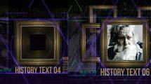 پروژه افترافکت روایت تاریخ با قاب عکس History in Frames