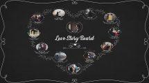 پروژه افترافکت نمایش داستان عاشقانه Love Story Board