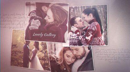 پروژه افترافکت نمایش گالری عکس عاشقانه Lovely Gallery