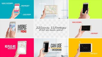 پروژه افترافکت نمایش تبلیغات روی موبایل Mobile Display for App
