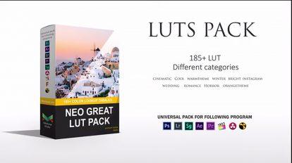 مجموعه پریست اصلاح رنگ فیلم Neo Great Luts Pack