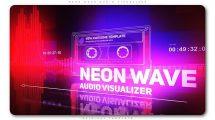 پروژه افترافکت ویژوالایزر موزیک نئونی Neon Wave Audio Visualizer