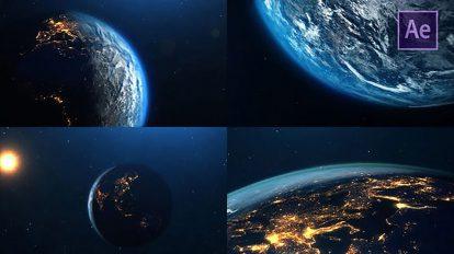 پروژه افترافکت نمایش کره زمین Planet Earth