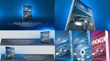پروژه افترافکت موکاپ دیسک و کتاب Product Revealer