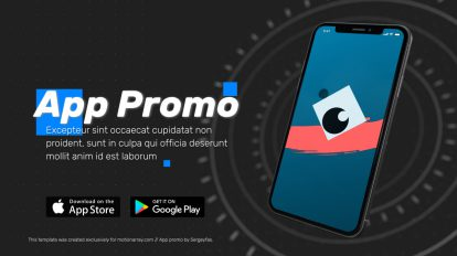 پروژه افترافکت تیزر تبلیغاتی اپلیکیشن App Promo