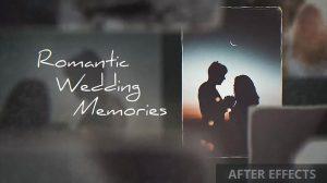 پروژه افترافکت نمایش خاطرات رمانتیک عروسی Romantic Wedding