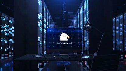پروژه افترافکت نمایش لوگو در اتاق سرور Server Reveal