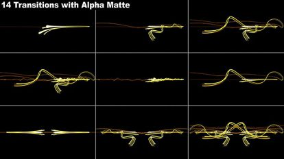 مجموعه ویدیوی موشن گرافیک ترانزیشن پرتوی نور