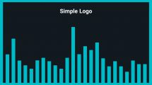 موزیک زمینه لوگو ساده Simple Logo