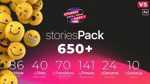 پروژه افترافکت مجموعه استوری اینستاگرام Stories Pack