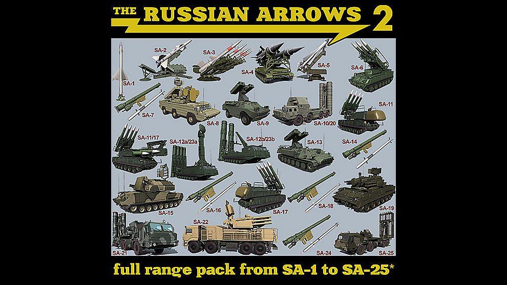 مجموعه مدل سه بعدی تجهیزات نظامی و جنگی The Russian Arrows 2