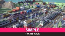 مجموعه مدل سه بعدی کارتونی قطار Trains Cartoon Assets