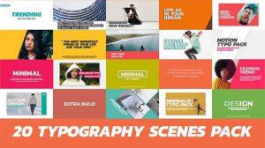 پروژه پریمیر نمایش تایپوگرافی Trendy Typography Scenes