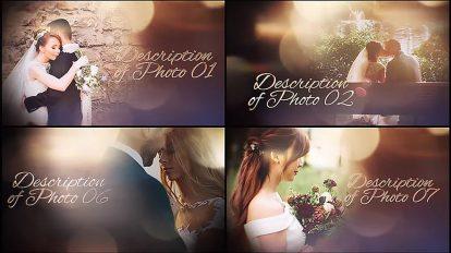 پروژه افترافکت نمایش اسلایدشو عروسی Wedding Slideshow