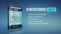 پروژه افترافکت مجموعه موشن گرافیک سه بعدی 3D Motion Graphic Library