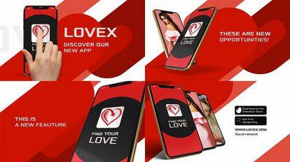پروژه افترافکت تیزر تبلیغاتی اپلیکیشن App Promo XS