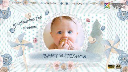پروژه افترافکت اسلایدشو کودکان Baby Slideshow