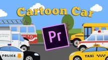 پروژه پریمیر مجموعه انیمیشن کارتونی ماشین Cartoon Car Mini Pack