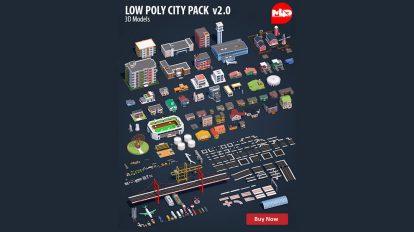 مجموعه مدل سه بعدی اجزای شهری City Pack