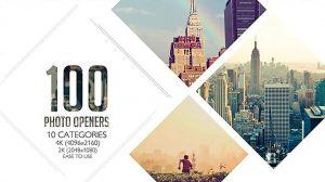 پروژه افترافکت افتتاحیه با نمایش لوگو Clean Photo Openers