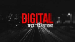 پروژه افترافکت ترانزیشن متن Digital Text Transitions