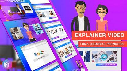 پروژه افترافکت تیزر تبلیغاتی فروشگاه آنلاین Dream Shopping Online
