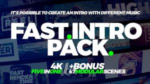 مجموعه پروژه افترافکت اینترو سریع Fast Intro Pack 5in1