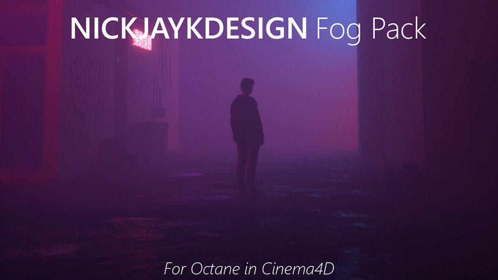 مجموعه پروژه سینمافوردی مه برای اکتان رندر Fog Presets Pack