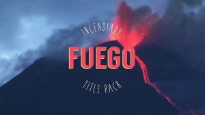 پروژه افترافکت مجموعه عناوین متنی Fuego Title Pack