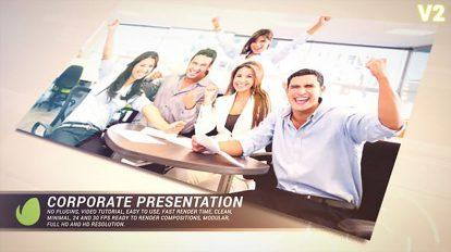 پروژه افترافکت پرزنتیشن شرکتی طلایی Golden Corporate Presentation