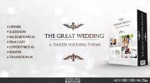 پروژه افترافکت اجزای ویدیوی عروسی Great Wedding Pack