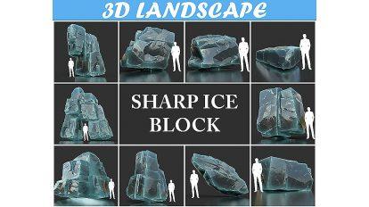 مجموعه مدل سه بعدی توده یخ Ice Block
