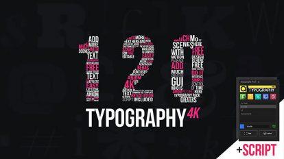 پروژه افترافکت مجموعه عناوین تایپوگرافی متحرک Kinetic Typography